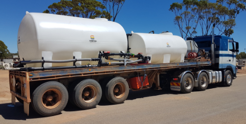 Coerco cartage tanks in correct position on truck